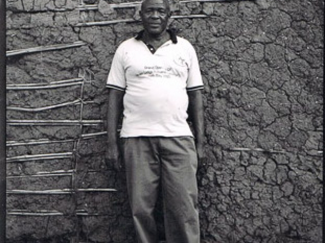 Mr Sam Karibwende - Chairman of Bwindi Coffee Farmer Cooperative - photo by Stephen Cummiskey