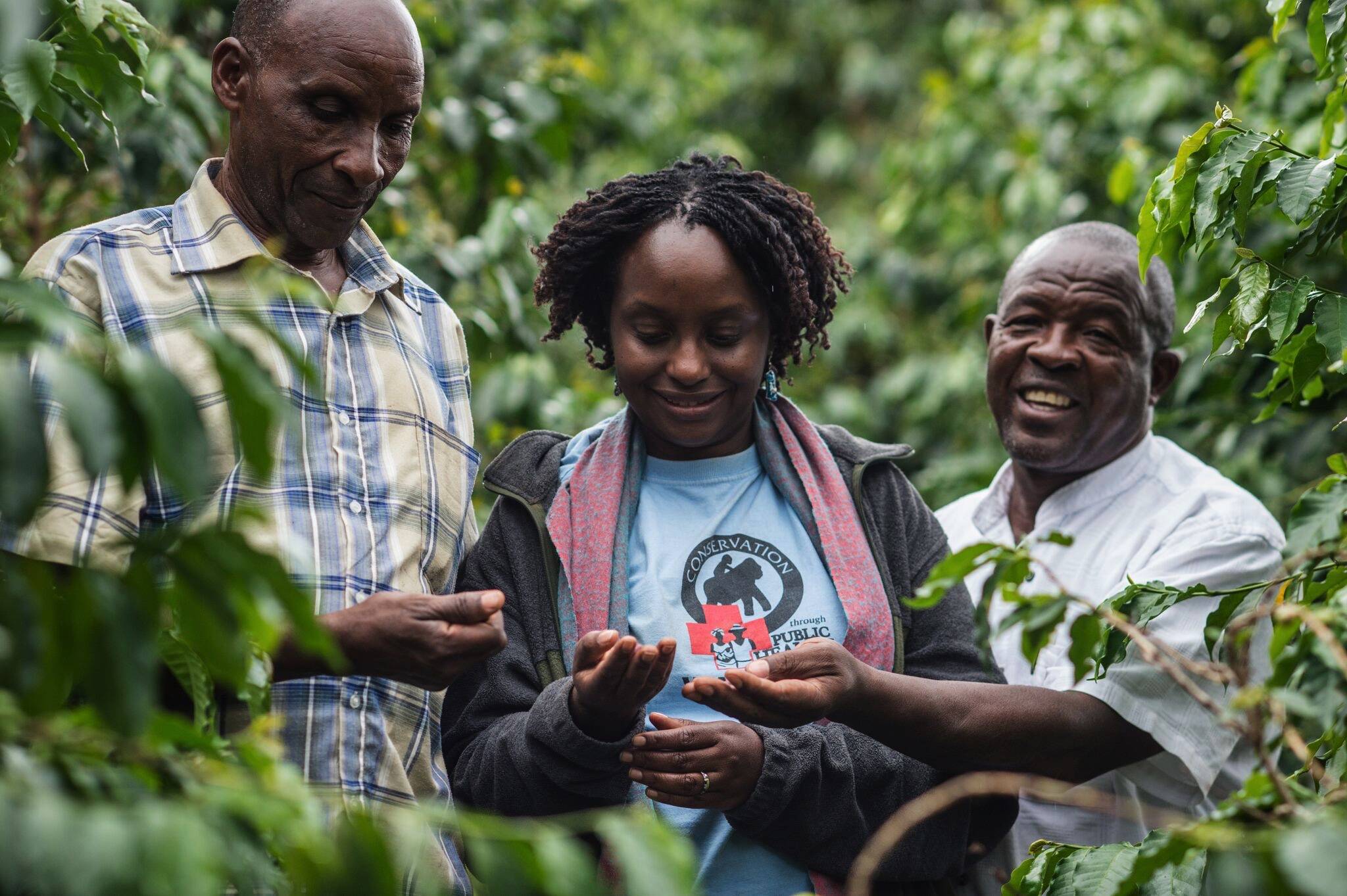 Dr. Gladys with members of the Bwindi Coffee Growers Cooperative