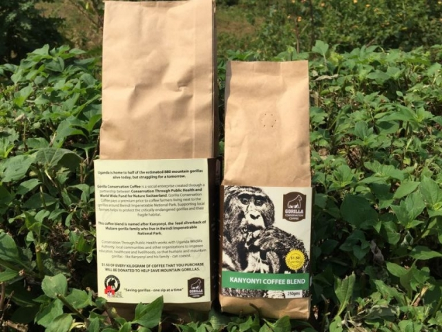Kanyonyi Blend Gorilla Conservation Coffee 250g packets